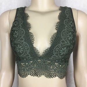 Victoria's Secret Green Lace Bra